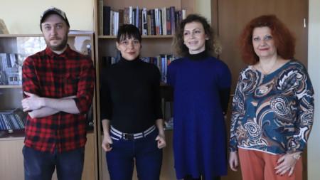 """Екипът на """"Културата на бързи обороти"""" (от ляво на дясно) - Теодор Иванов, Яна Пункина, Зорница Гъркова, Сибила Лилова."""