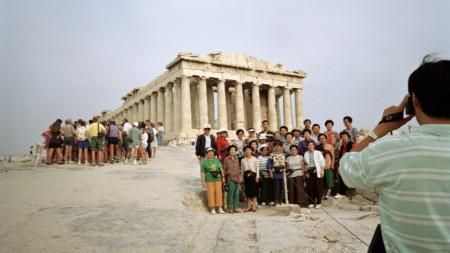 Акрополът в Атина, Атина, 1991 г., ©Мартин Пар, от серията Small World