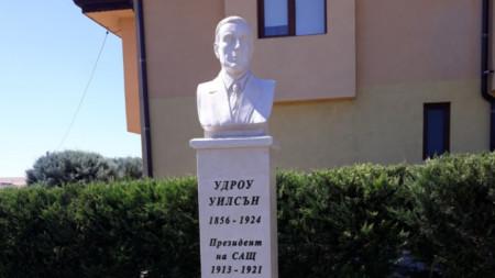 Woodrow-Wilson-Denkmal im Dorf Dobrotitza bei Silistra