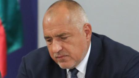 Премиерът Бойко Борисов на брифинга в Министерския съвет