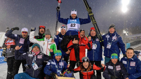 Владимир Илиев - сребърен медал на 20 километра на СП по биатлон в Йостерзунд