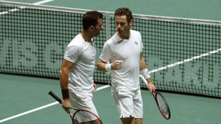 Ройер (вляво) и Коолхоф напуснаха олимпийския турнир без игра.