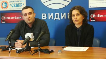 Председателят на РИК Видин Емил Емилов и секретарят Ирена Дочева.