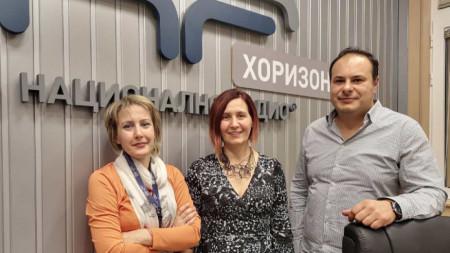 Водещата Мая Данчева с Мария и Орлин Давчеви