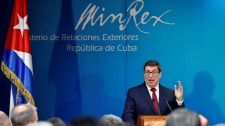 Kубинският външен министър Бруно Родригес.