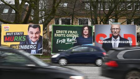 Проучване отрежда 6% на крайната десница за вота в Хамбург.