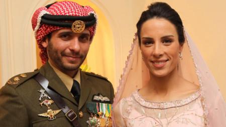 Принц Хамза и съпругата му принцеса Басма.