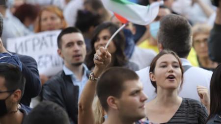 Протестите в София срещу властта.