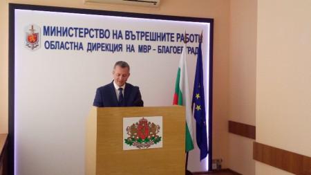 Старши комисар Николай Хаджиев даде пресконференция в Благоевград за охранителните мерки за Великденските празници.