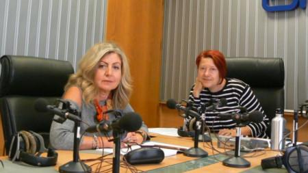 Доц. Ана Кочева и Венета Гаврилова в студиото на предаването