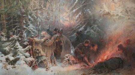 Саможертвата на Иван Сусанин, картина на Константин Маковски