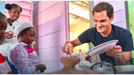 Федерер осигури 1 милион долара за прехрана на африкански деца.