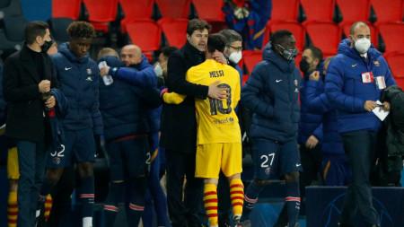 Треньорът на ПСЖ Почетино се прегращъ с Меси след мача на
