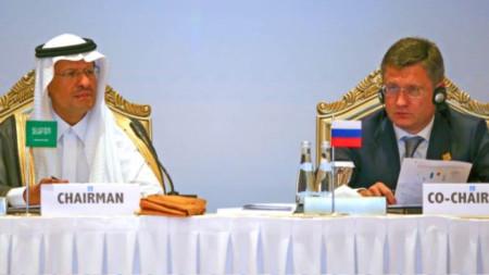 Принц Абдулазиз бин Салман и Александър Новак