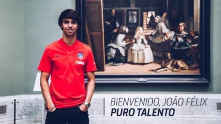 Жоао Феликс в музея
