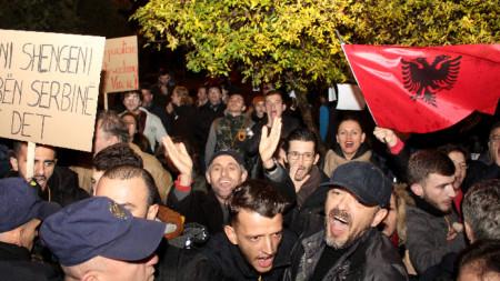 Посещението на сръбския президент Александър Вучич предизвика протести в Тирана