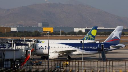 Международното летище на чилийската столица Сантяго.
