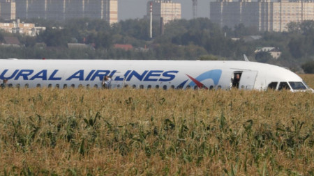 Самолет A-321 на Уралските авиолинии кацна аварийно след сблъсък с птици