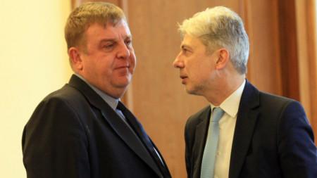 Красимир Каракачанов и Нено Димов