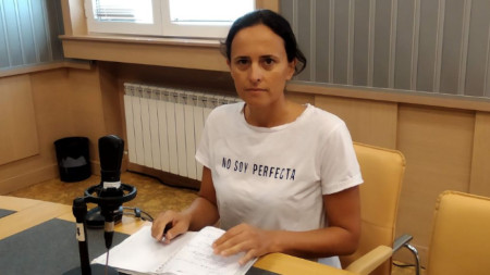 "Журналистката Генка Шикерова в студио на програма ""Хоризонт"""
