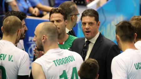 Пламен Константинов е доволен от отбора.