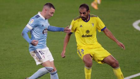 Яго Аспас (вляво) се отличи с гол и две асистенции за Селта.