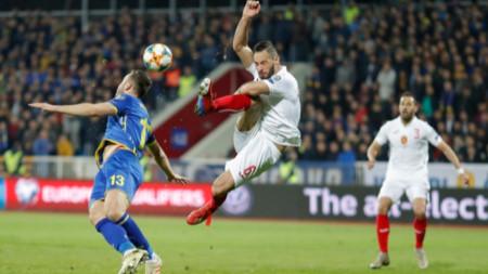 Националите завършиха 1:1 и с Косово