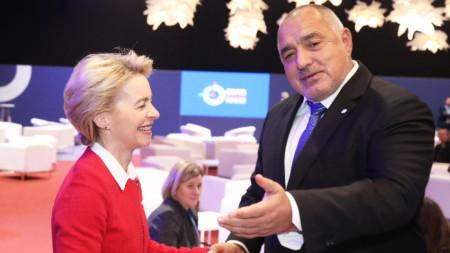 Урсула фон дер Лайен и Бойко Борисов на 25-ата конференция по изменение на климата