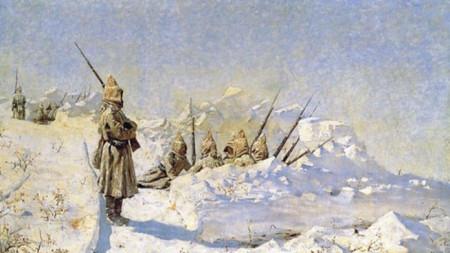 Василий Верешчагин - Руските позиции на Шипченския проход