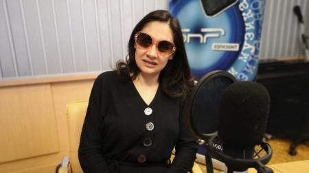 Мариана Попова в студиото на програма