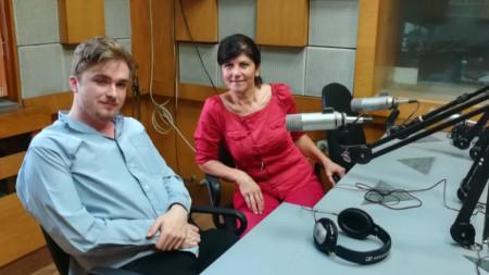 Александър Матюсън в студиото на Радио Пловдив