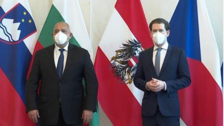 Бойко Борисов на среща с австрийския канцлер Себастиан Курц