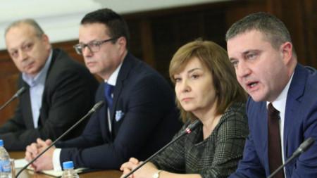 Министърът на финансите Владислав Горанов и ръководството на НАП проведе среща в Министерски съвет с представителите на бизнеса за прилагането на Наредба Н-18.