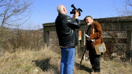 Росен Елезов и Георги Константинов по време на снимките на филма.