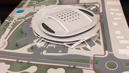 Идеен проект за бъдещата многофункционална спортна зала на Стара Загора.