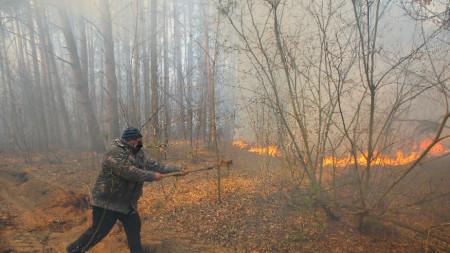 Пожарите край бившата атомна централа в Чернобил са сравнително чести