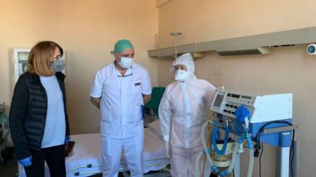 Първа градска болница също има отделение за пациенти с Covid-19