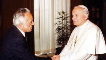 Райко Николов и папа Йоан Павел II