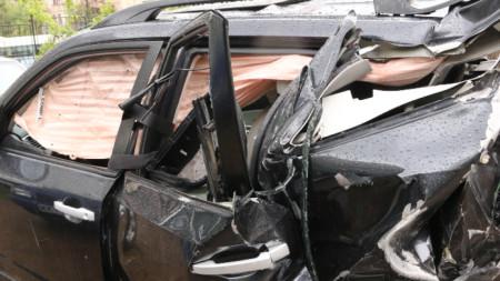 Автомобилът от катастрофата с журналиста Милен Цветков е на паркинг пред СДВР.