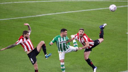 Футболистите на Атлетик (в червено и бяло)записаха най-категоричната си победа от началото на сезона.