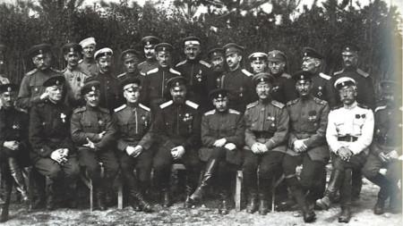 Офицеры Первого армейского корпуса ген. Кутепова в Болгарии, Велико-Тырново, 6 апреля 1922 г.