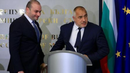 Мамука Бахтадзе и Бойко Борисов обсъдиха активизирането на икономическите и търговските отношения