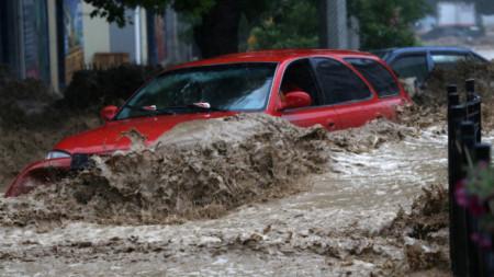 Проливни дъждове и наводнения в Ялта, Кримския полуостров