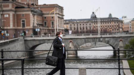 Изглед към Кралската опера в Стокхолм, 27 април 2020 г.