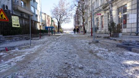 Ремонтът на централната пешеходна зона във Видин