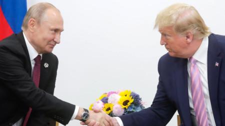 Путин и Тръмп на срещата на Г-20 през миналата година в Япония.