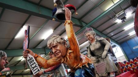 Фигурата на британския премиер Борис Джонсън ще се включи в карнавално шествие в германския град Майнц днес, 24 февруари 2020 г.