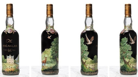 """Продадената бутилка уиски """"Макалън"""""""