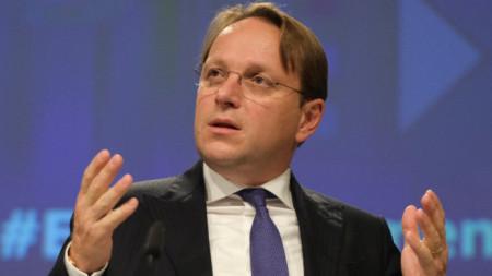 Еврокомисар Оливер Вархеи