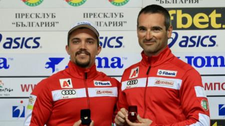 Иво Борисов (вдясно) очаква още повече от Алберт Попов.